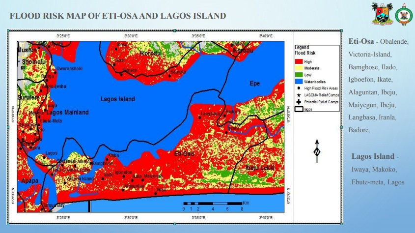 Flood prone areas in Lagos